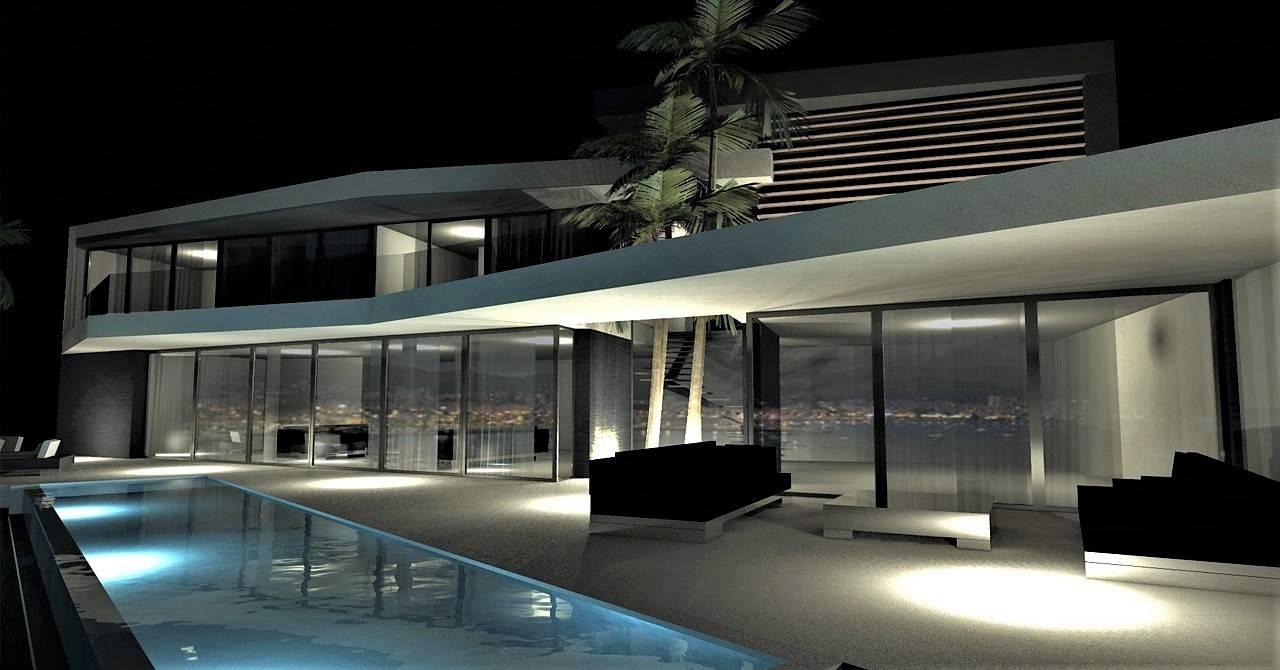 L'architecture moderne d'une maison individuelle